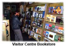 Information and Book Store in The Visitor Centre