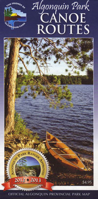 Canoe Routes Map of Algonquin Provincial Park