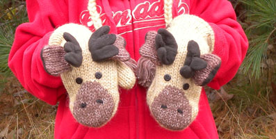 Manny the Moose Mittens